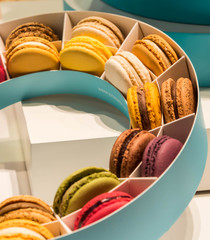 Macaroons at Salon du Chocolat Brussels