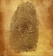 Vector fingerprint on vintage background
