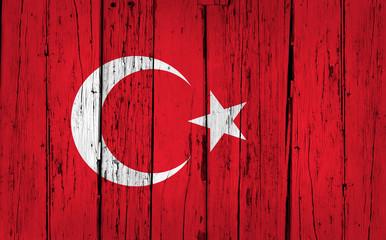 Turkey Flag Grunge Background