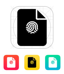 File with fingerprint icon.
