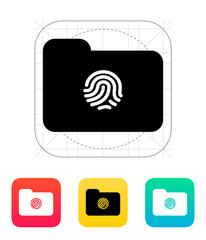 Thumbprint on folder icon.