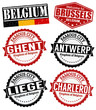 Belgium cities stamps