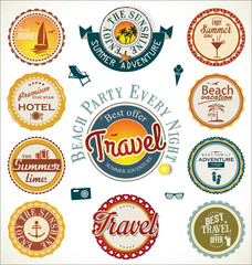 Summer and travel labels