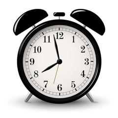 Black retro alarm clock