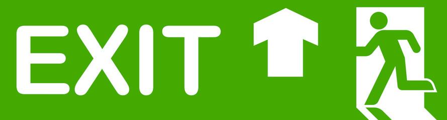 Green Exit Simbol up
