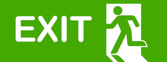 Green Exit Simbol