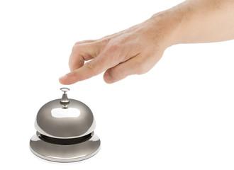 Male Finger Ringing Hotel Bell