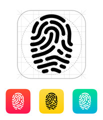 Fingerprint scanner icon.
