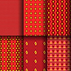 Set of seamless mosaics
