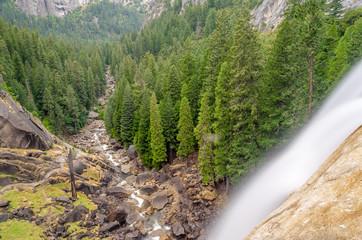 Vernal Falls at Yosemite National Park, California