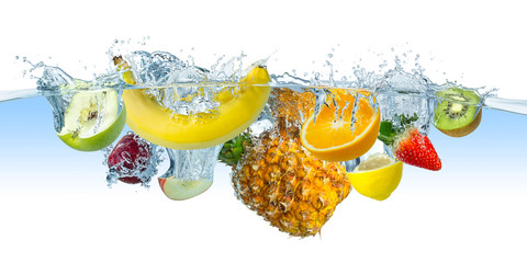 multi fruit splash © stockphoto-graf