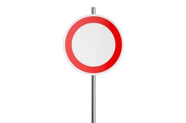 round road sign