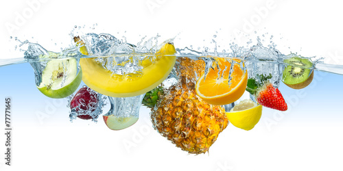 Fotobehang Vruchten multi fruit splash