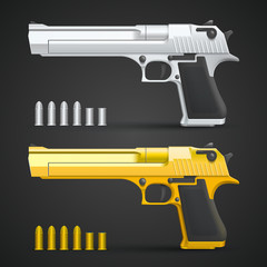 Gold and silver gun