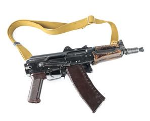 Kalashnikov rifle. Third safety lever position.