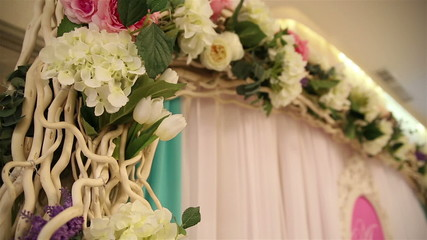 floral decoration for the wedding ceremony