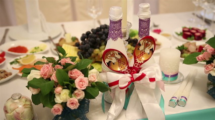wedding decorations for table newlyweds