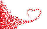 Valentine's day heart card template. Heart silhouette - 77772625