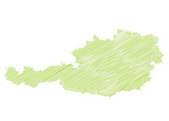 Landkarte *** scribbled Österreich