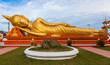 Gold reclining Buddha in Wat Si Saket in Vientiane, Laos - 77773452