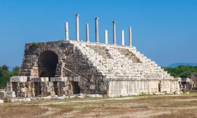 Ancient Roman ruins of Hippodrome in Tyre, Lebanon