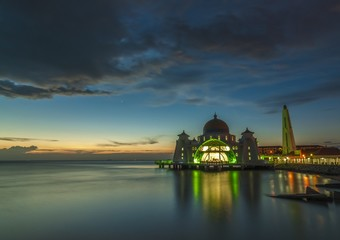 Sunset at Malacca Starits Mosque