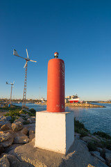Harbour powered with renewable energy
