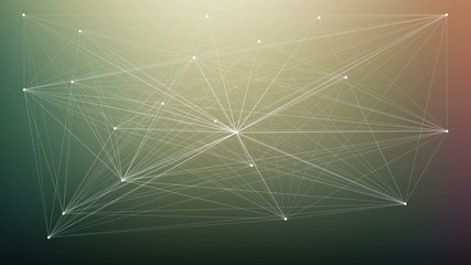 Connecting dots. Abstract animation for infographics