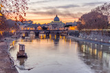 Vatican City and Tevere River in Rome at Dusk - 77776007