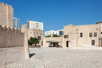 Historic fort at the Museum of Ajman. UAE