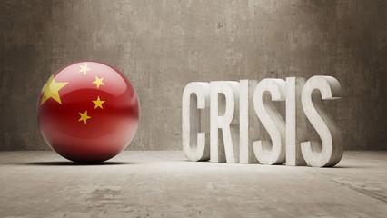 China. Crisis  Concept