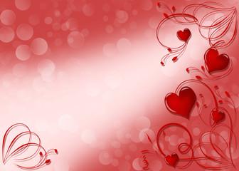 фон с узором и сердцами