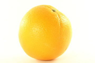orange fruit closeup in white background