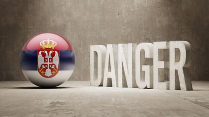 Serbia. Danger  Concept