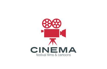 Vintage Camera Logo design vector. Retro Cinema Logotype