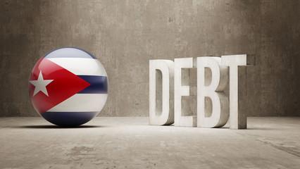 Cuba. Debt  Concept