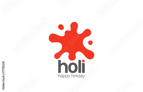 Poster Vormen Paint Blob Logo abstract design vector. Liquid splash icon
