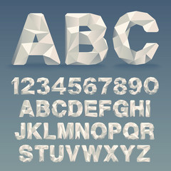 Vector Lowpoly Font