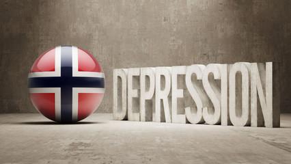 Norway Depression Concept