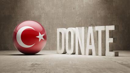 Turkey. Donate  Concept