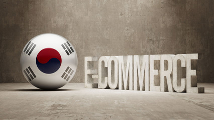 South Korea. E-Commerce  Concept.