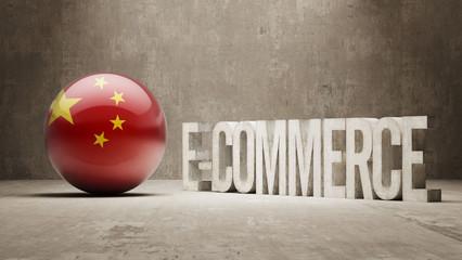 China. E-Commerce  Concept.