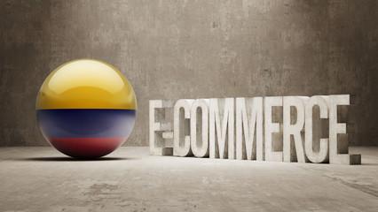 Colombia. E-Commerce  Concept.