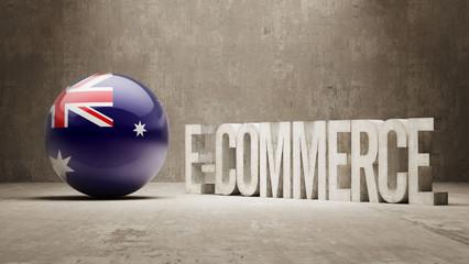Australia. E-Commerce  Concept.