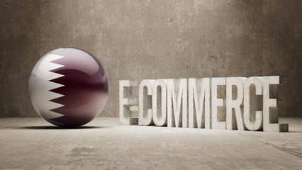 Qatar. E-Commerce  Concept.