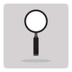 Vector of flat icon, magnifying glass on isolated background