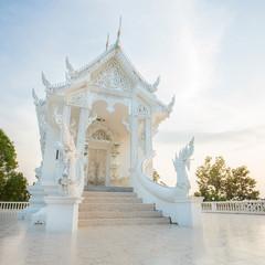 White Buddhist temple in Thailand