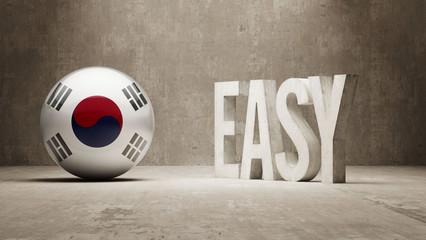 South Korea. Easy  Concept.