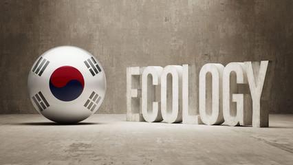 South Korea. Ecology  Concept.