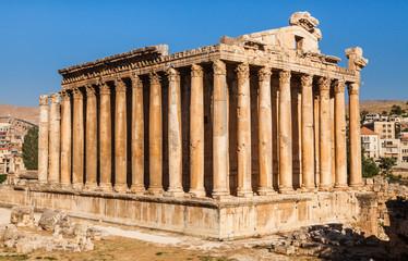 Temple of Bacchus in Baalbek ancient Roman ruins in Lebanon